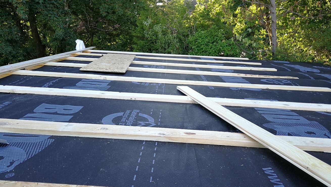 gartenhaus dach, welches vorgehen sinnvoll? (handwerk, holz, handwerker)