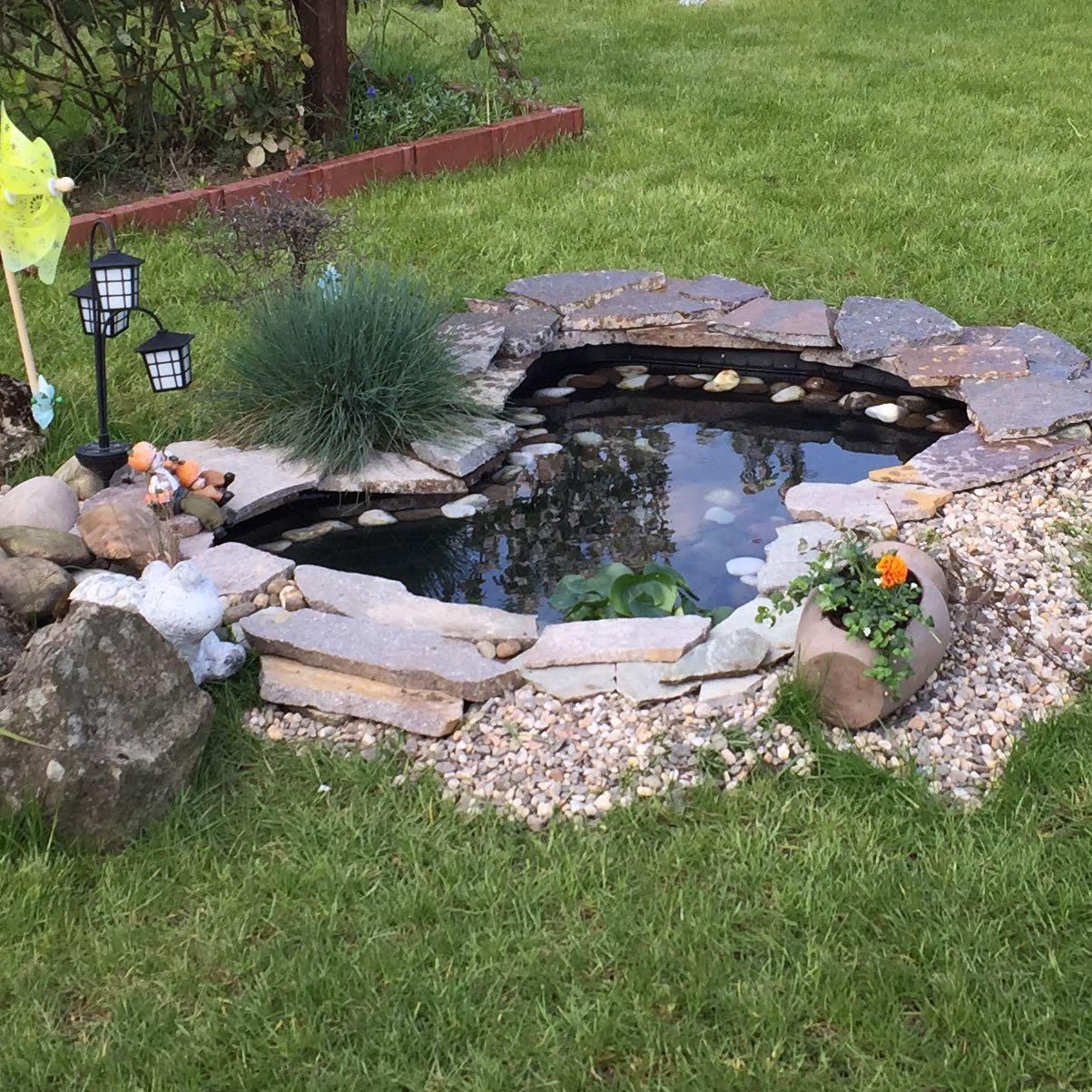 Gartenteich ohne strom sauber halten garten fische teich for Steine im teich