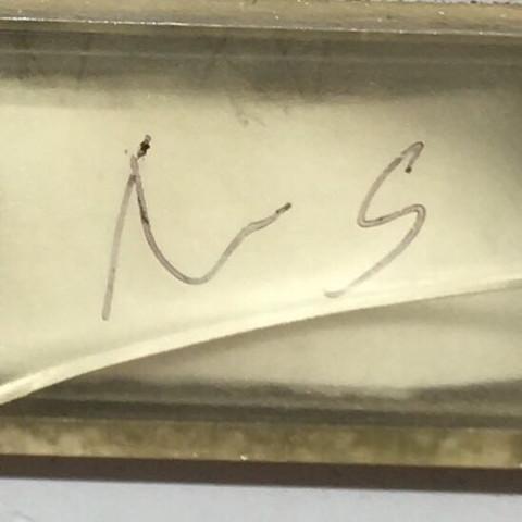 Die beiden Buchstaben am Namensschild hinter meinem Namen. - (Post, Beleidigung, briefkasten)