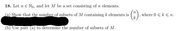 Geben sie die Anzahl der Teilmengen von M an?
