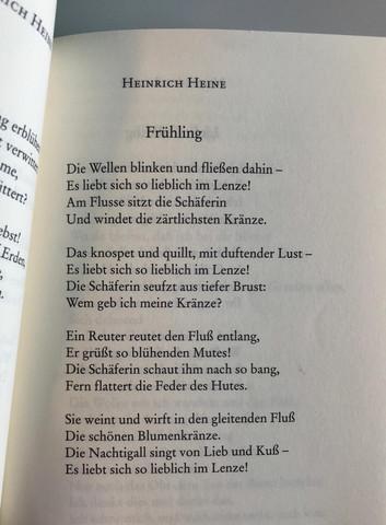 Heinrich Heine Gedichte Frühling Gedichte Zum Thema