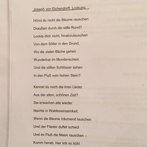 Joseph von Eichendorff: Lockung  - (Schule, deutsch, Tipps)