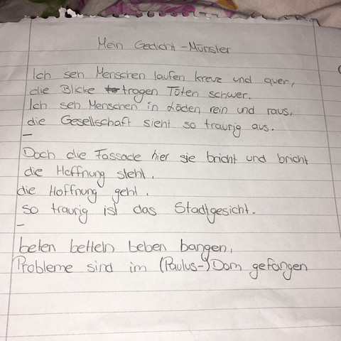 Gedicht Schreiben Hilfe Schule Deutsch Metrum