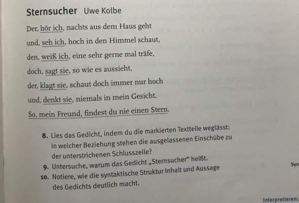 - (Deutsch, Hausaufgaben, Gedicht)