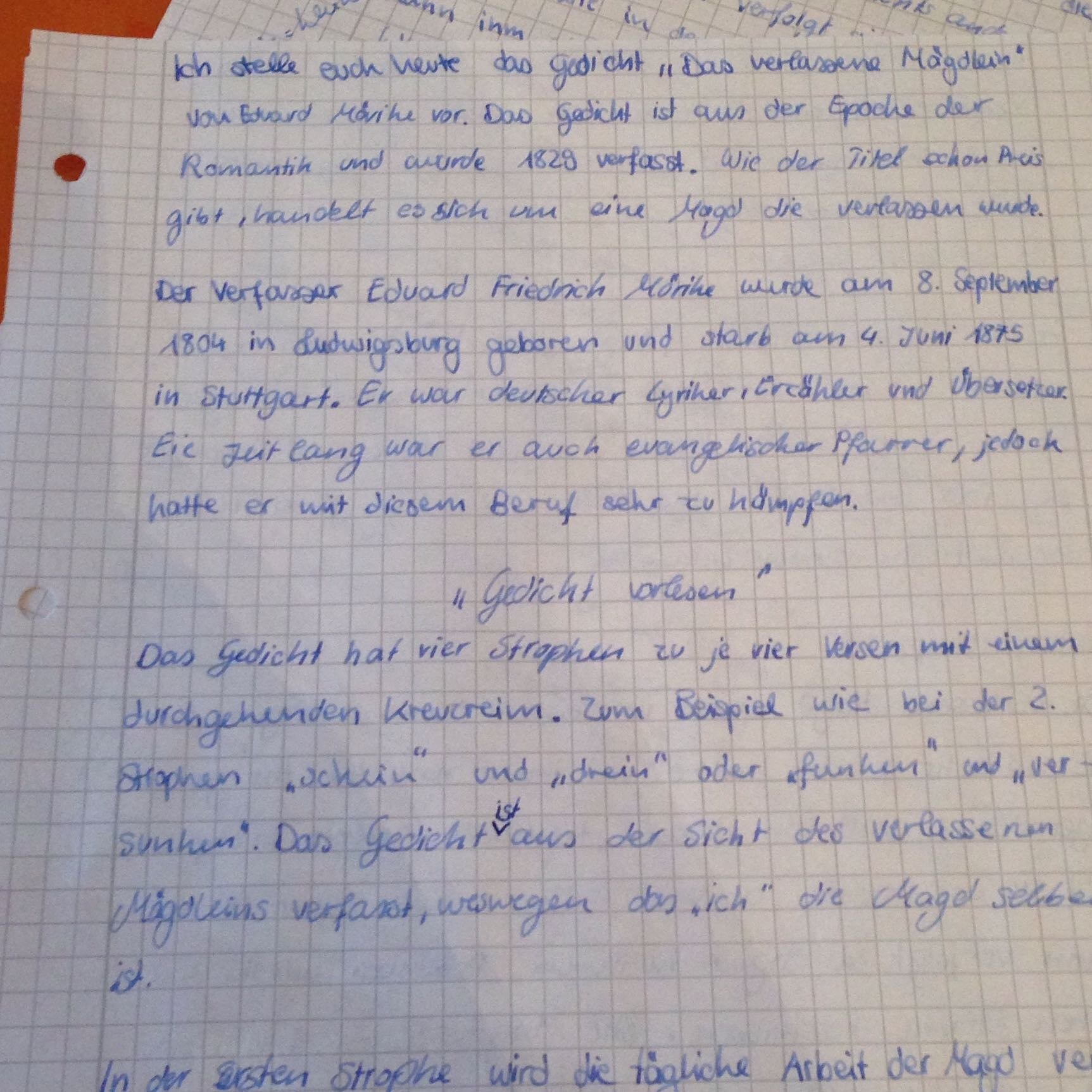 Interpretation Deutsch