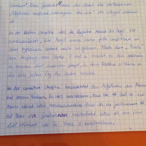 2. Bild  - (Schule, Mädchen, deutsch)