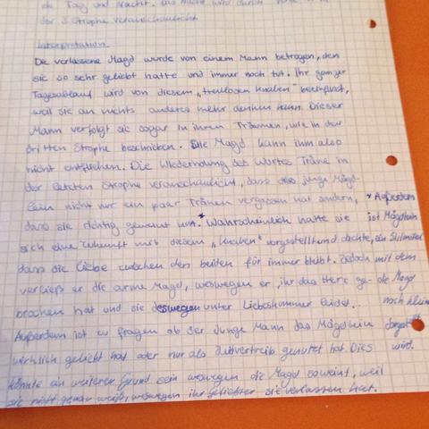 4.Bild - (Schule, Mädchen, deutsch)