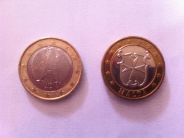 Gefälschte Oder Wertvolle Euromünze Euro Münzen Fälschung