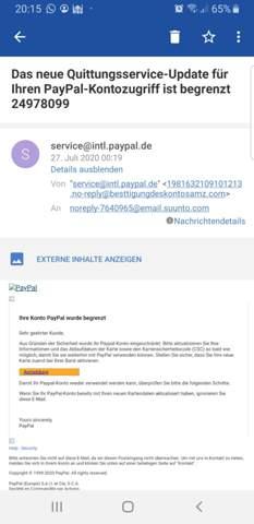 Paypal Gefälschte Mail
