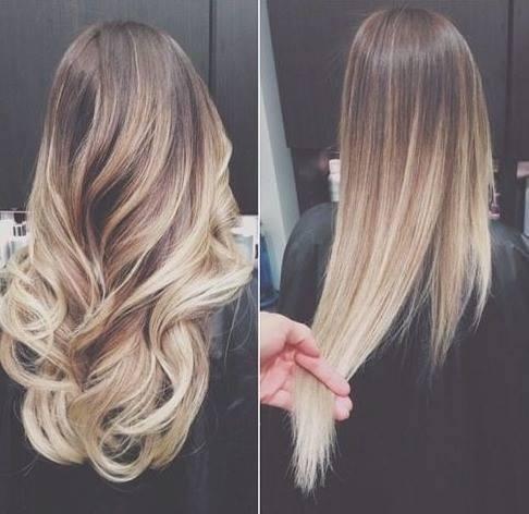 Gef rbte braune haare blondieren blonde str hnen ombre for Ombre braun