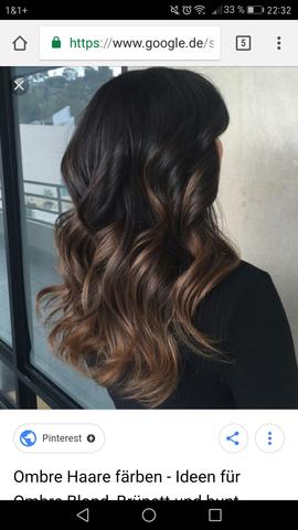 Gefärbtes Schwarzes Haar - sind Braune Strähnen möglich