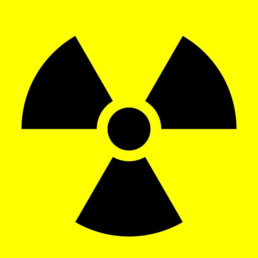 Gefahren Symbol: Strahlung. Wie ist es richtig?