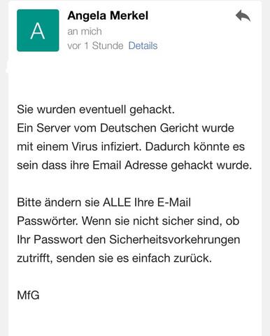 Bild von der Email  - (Email, gehacked)