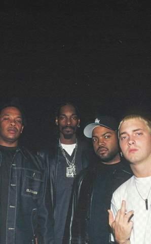 Gehören alle Rapper auf diesem Bild zur Westsite (auch Eminem)?