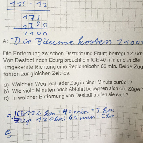 Arbeitsblatt  - (Mathe, Grundschule)