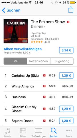 """Halt die """"gekauft"""" lieder kann ich nicht hören  - (Musik, iPhone, Apple)"""