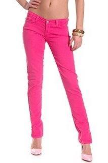 Pinkfarbene Jeans - (Mode, Party, 90er)