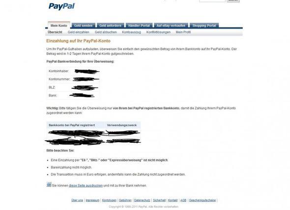 Geld Von Paypal Auf Konto