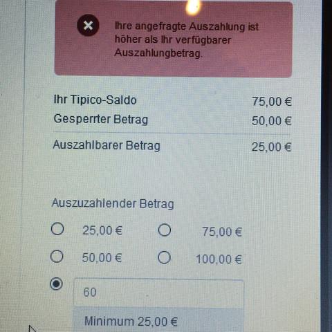 Tipico Geld Auszahlen