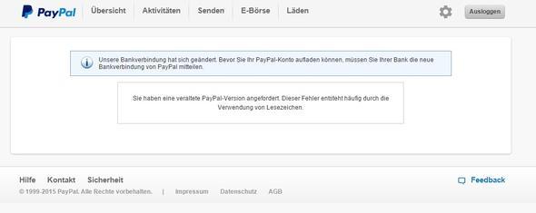 Paypal Limits Anzeigen Geht Nicht