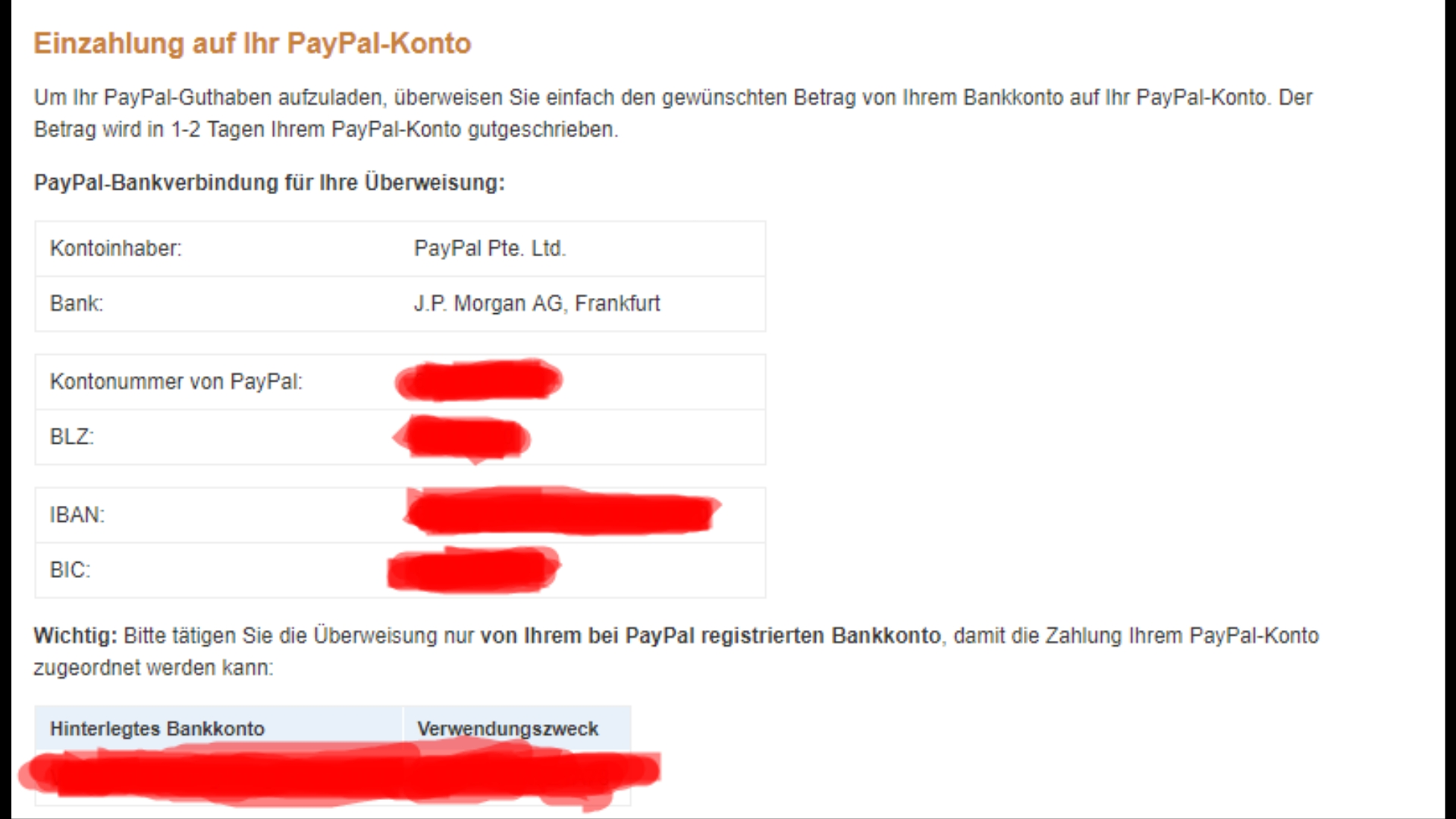 Von Bank Auf Paypal Гјberweisen