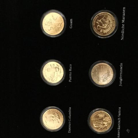 Geldmünzen Vergoldet Wert Amerikanische Quarter Dollar Geld Beruf