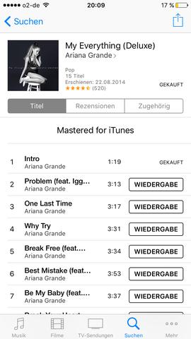 Der 1. Titel den ich nicht erneut laden kann, (Intro). - (Musik, Download, iTunes)