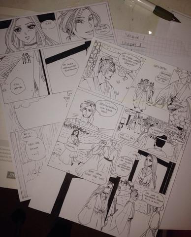 Manga seiten - (Manga, zeichnen)