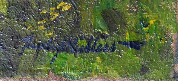 Signatur - (Kunst, Künstler, Gemälde)