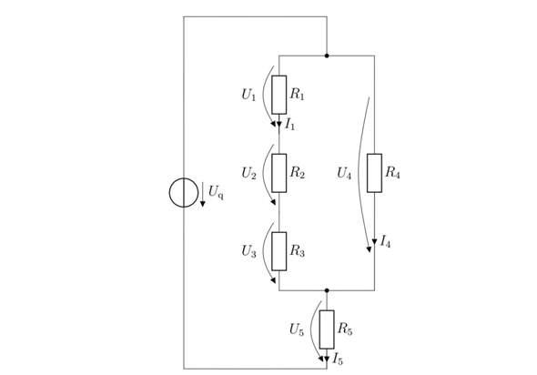 Gemischte Schaltung Spannung und Ströme berechnen?