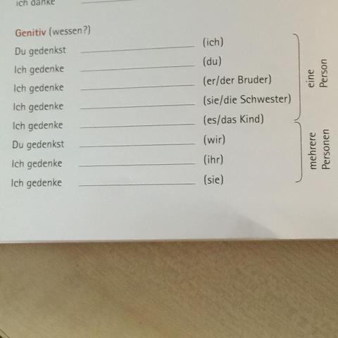 .....  - (deutsch, bestimmen, Genitiv)