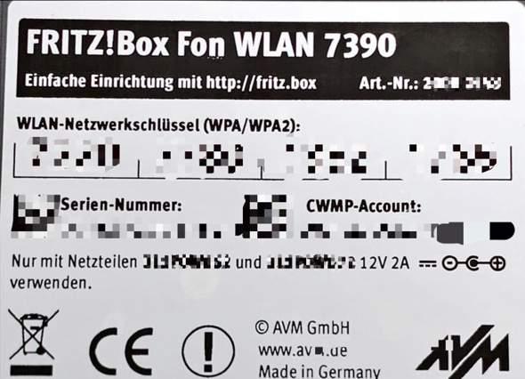 Gerätepasswort Fritzbox?