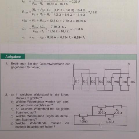 Die 1. Aufgabe - (Mathematik, Physik, Elektronik)