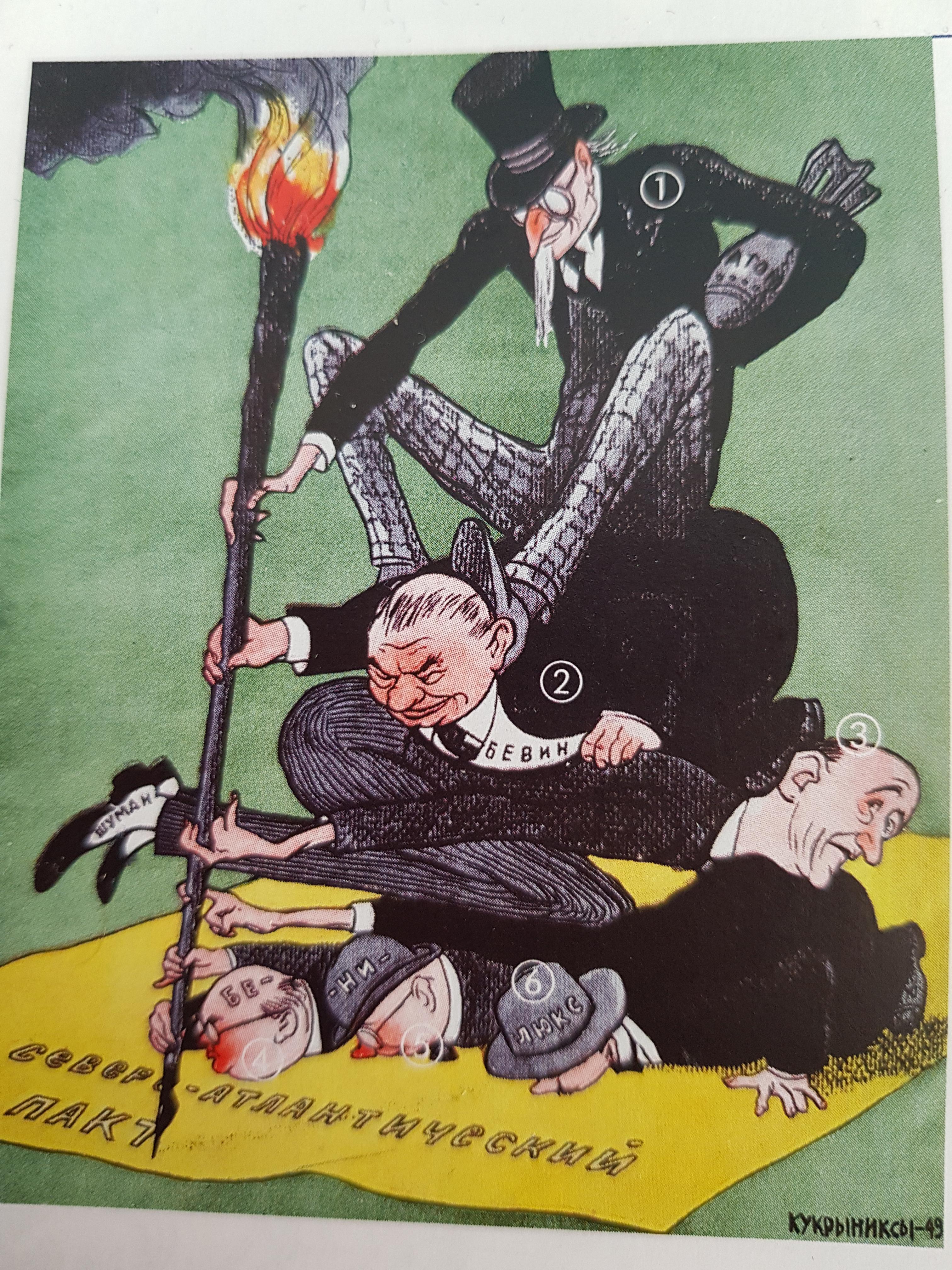 Geschichte -> Nordatlantischer Pakt, Karikatur beschreiben