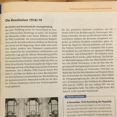 Der text - (Schule, Geschichte, Revolution)