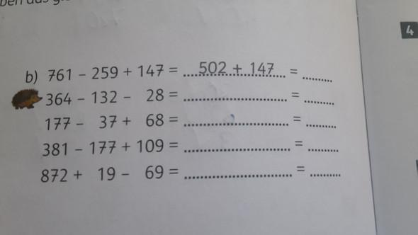 Geschicktes Rechnen (4. Klasse)? Wie sind die Aufgaben zu lösen ...