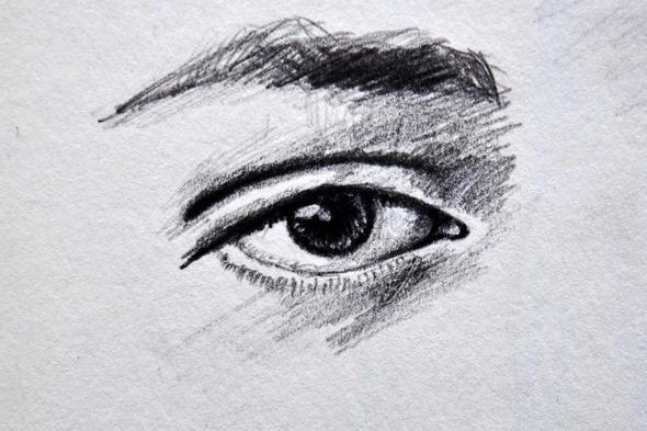 Gezeichnetes Auge Augen Hobby Zeichnen