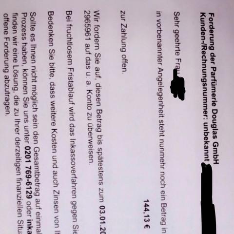 Gfkl Payprotect Gmbh Fake Rechnung Inkasso Mahnung