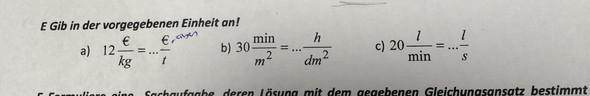 - (Schule, Mathe, Einheitenumrechnung)