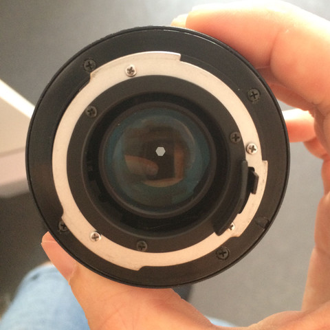 Objektiv von hinten  - (Foto, Kamera, Adapter)