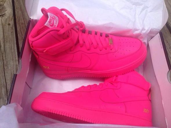 Nike Air Force Grau Pink