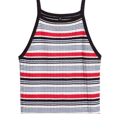 Gestreift geripptes top  - (Mode, Kleidung, online)