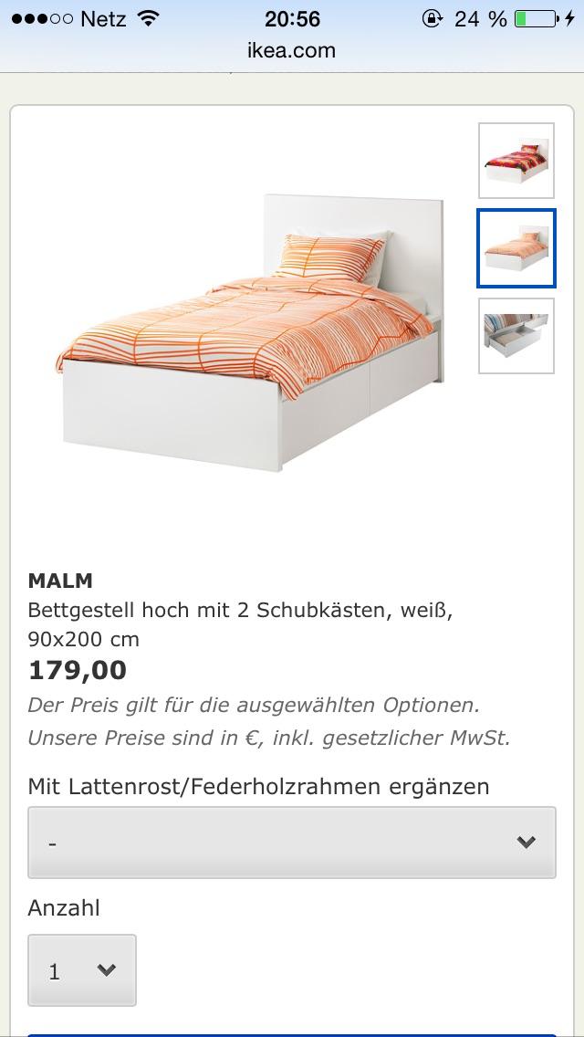 gibt es dieses bett von ikea auch in einer anderen variante online matratze schublade. Black Bedroom Furniture Sets. Home Design Ideas