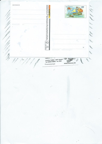 Postkarte auf Papierbogencarrier - (basteln, Produkte, Papier)