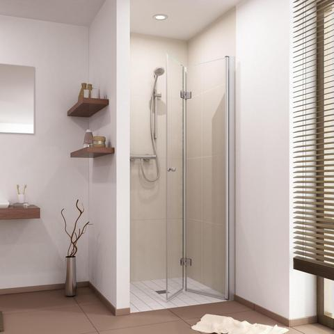 gibt es drehfaltt ren f r die dusche nur aus glas wohnen. Black Bedroom Furniture Sets. Home Design Ideas