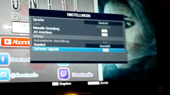 - (Fernseher, Update, USB)