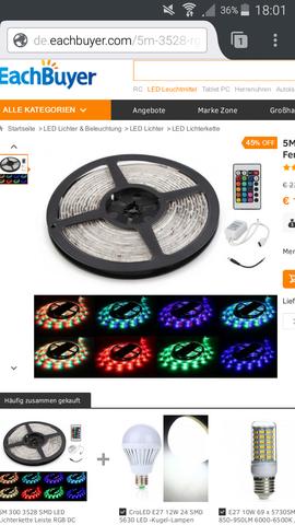 Hier ein Beispiel von so einer LED Lichterkette die für Zimmerbeleuchtung gut i - (Party, Strom, Elektrik)