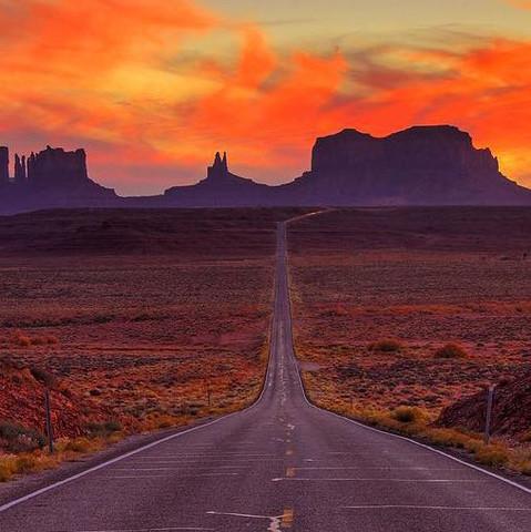Eine Straße in Arizona - (Deutschland, Ort, Arizona)