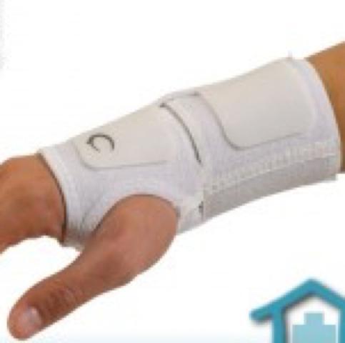 solche meine ich mit kletverschluss welche über den daumen gehen - (Handgelenk, Bandagen)