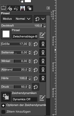 Gimp 2.10 keine farben bei Pinsel?